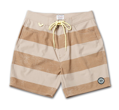 ストレッチ素材のトランクス『Cracked Border Pattern Stretch Trunks』『Blue.』No.48 掲載商品 no.2_Beige