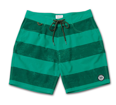 ストレッチ素材のトランクス『Cracked Border Pattern Stretch Trunks』『Blue.』No.48 掲載商品 no.2_Green