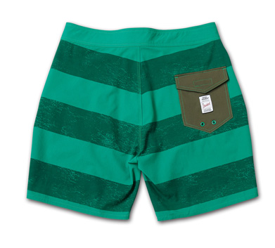 ストレッチ素材のトランクス『Cracked Border Pattern Stretch Trunks』『Blue.』No.48 掲載商品 no.2_Green_B
