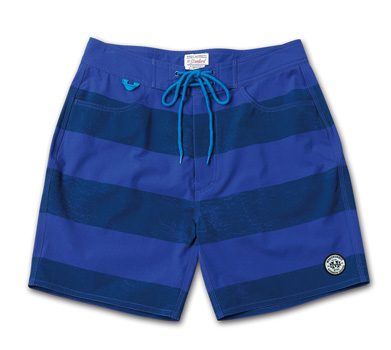 ストレッチ素材のトランクス『Cracked Border Pattern Stretch Trunks』『Blue.』No.48 掲載商品 no.2_Navy