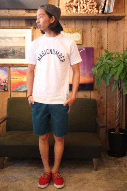 裾が切りっぱなしのベーシックチノショーツ『Cut-Off Chino Shorts』MAGIC NUMBER 14SS最新ITEM