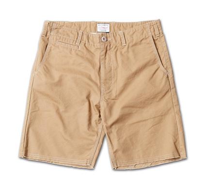 裾が切りっぱなしのベーシックチノショーツ『Cut-Off Chino Shorts』MAGIC NUMBER 14SS最新ITEM_Beige