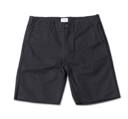 裾が切りっぱなしのベーシックチノショーツ『Cut-Off Chino Shorts』MAGIC NUMBER 14SS最新ITEM_Black