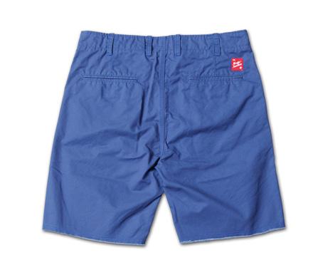 裾が切りっぱなしのベーシックチノショーツ『Cut-Off Chino Shorts』MAGIC NUMBER 14SS最新ITEM_Navy_B