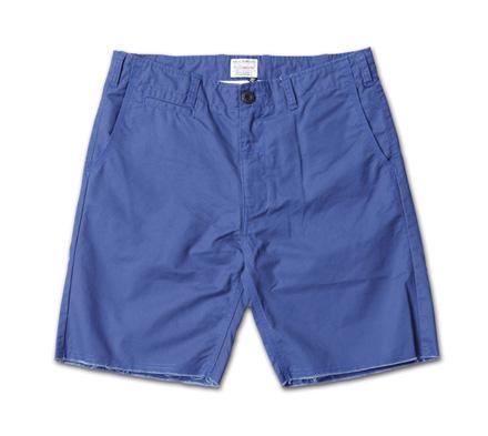裾が切りっぱなしのベーシックチノショーツ『Cut-Off Chino Shorts』MAGIC NUMBER 14SS最新ITEM_Navy