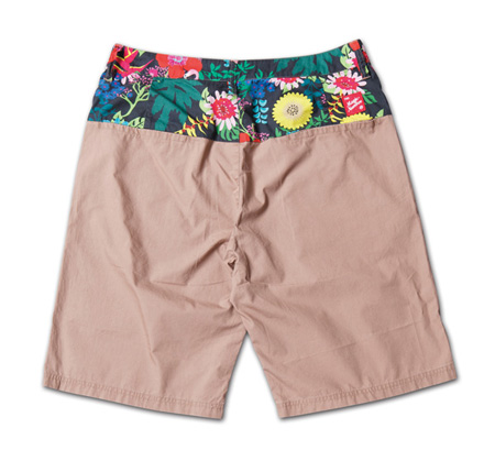 オリジナルファブリック切替のショーツ『Original Pattern x Solid Color Shorts』MAGIC NUMBER 14SS最新ITEM_Beige_B