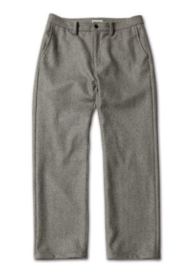 『men's FUDGE 3月号』防寒アウター特集掲載 MagicNumber「Wool Melton Trouser」