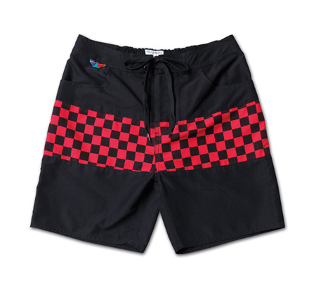 チェッカーパターンが映えるトランクス『Checker Flag Pattern Trunks』MAGIC NUMBER 14SS最新ITEM_BlackxRed