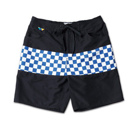 チェッカーパターンが映えるトランクス『Checker Flag Pattern Trunks』MAGIC NUMBER 14SS最新ITEM_WhitexNavy
