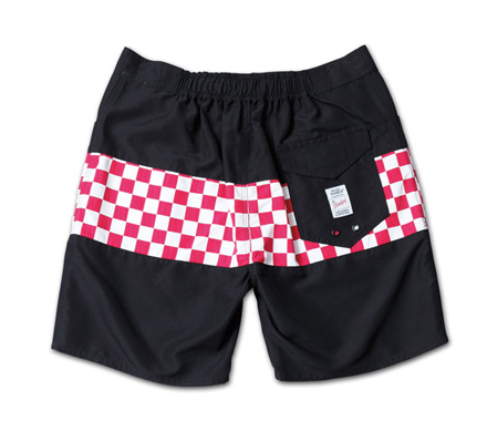 チェッカーパターンが映えるトランクス『Checker Flag Pattern Trunks』MAGIC NUMBER 14SS最新ITEM_WhitexRed_B