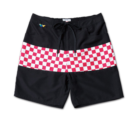 チェッカーパターンが映えるトランクス『Checker Flag Pattern Trunks』MAGIC NUMBER 14SS最新ITEM_WhitexRed_F