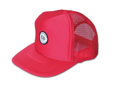オリジナルワッペン付きメッシュキャップ『Circle Logo Mesh Cap』MAGIC NUMBER 14SS最新ITEM_Red