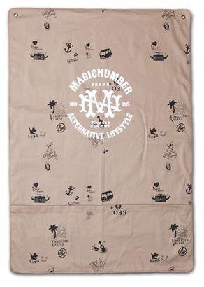 収納のアクセントにも。オリジナル柄タペストリー『Cotton Twill Tapestry』MAGIC NUMBER 14SS最新ITEM_Beige