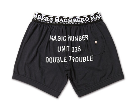 MAGIC NUMBER AW最新ITEM Stencil Print Boxer Shorts