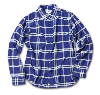 しっとりとした風合いのチェックシャツ『Rayon Tartan Check Shirts L/S』MAGIC NUMBER 14HS最新ITEM_Navy