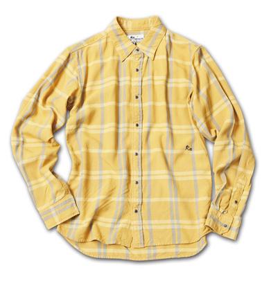 しっとりとした風合いのチェックシャツ『Rayon Tartan Check Shirts L/S』MAGIC NUMBER 14HS最新ITEM_Yellow