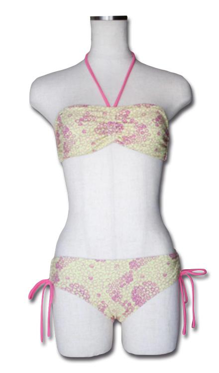 バンドゥタイプで小花柄のテキスタイルがレトロな雰囲気のビキニ。『Flower Bikini』MN by Lepido 14SS最新ITEM