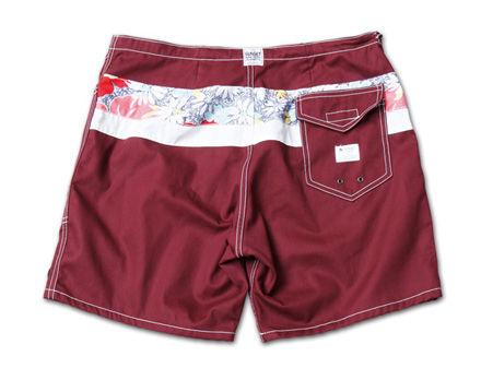 SUNSET1970とのコラボショーツ『SiDE SLIP SHORTS MN Ver.』--『Blue. Vol.46』,『STANDARD with UNIQUE』記事掲載商品 #6_Burgandy_B
