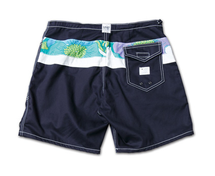 SUNSET1970とのコラボショーツ『SiDE SLIP SHORTS MN Ver.』--『Blue. Vol.46』,『STANDARD with UNIQUE』記事掲載商品 #6_Navy_B