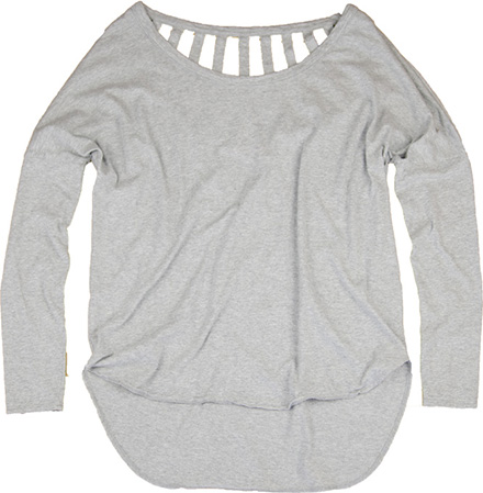 バックが特徴的なデザイン『Sunshine Long Sleeve Tee』 MN by Lepidos ITEM_Grey
