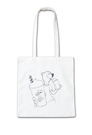 ユニークな熊のイラストが可愛い大きいサイズのトート『Sunshine Tote Bag』MN by Lepidos 14SS最新ITEM_Natural