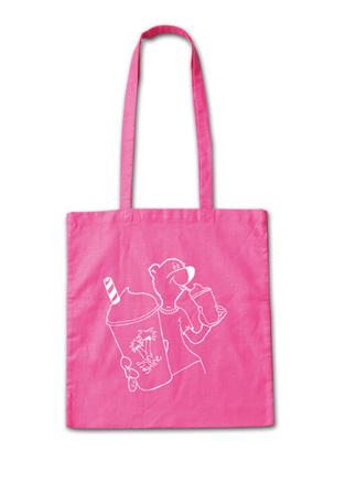 ユニークな熊のイラストが可愛い大きいサイズのトート『Sunshine Tote Bag』MN by Lepidos 14SS最新ITEM_Pink