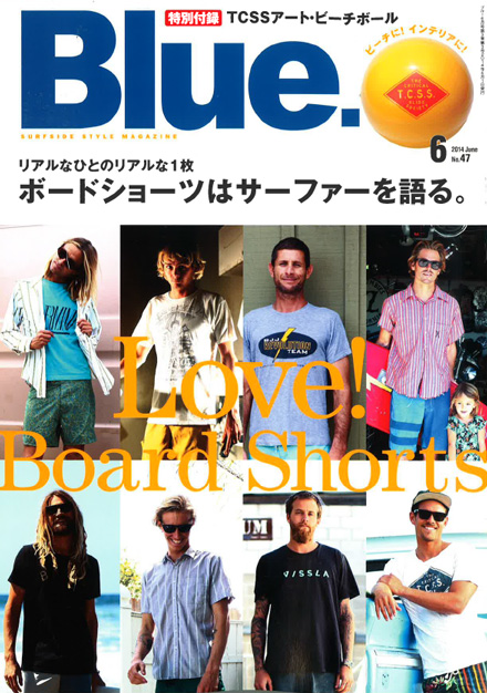 2014/5/10発売『Blue』6月号 掲載 Magic Number Press