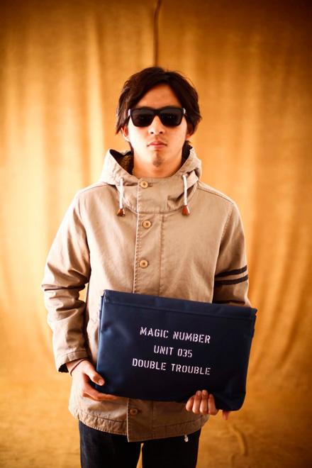 Magic NUMBER 実用的なPCケースとのコーデ