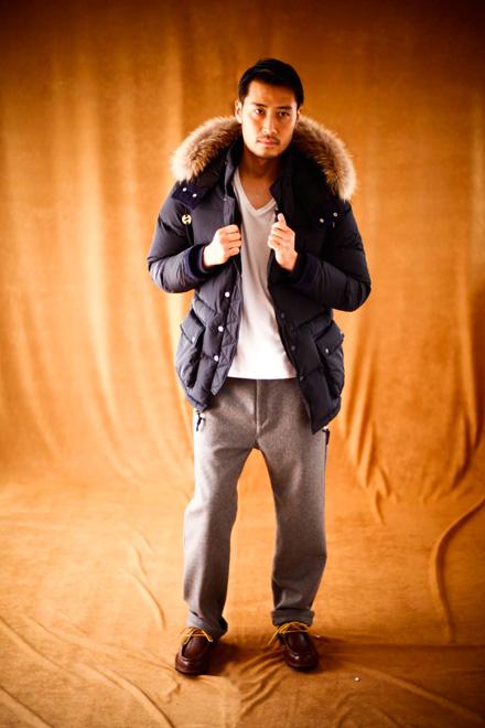 MAGIC NUMBER AW ITEM Fur Trim Down Jacket