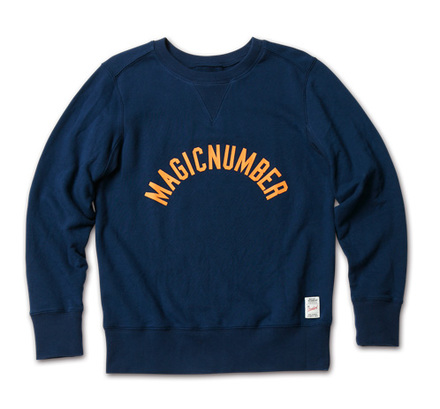 MAGIC NUMBER AW最新ITEM Arch Cracked Logo Sweat Crewneck