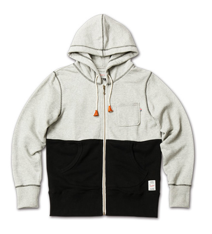 MAGIC NUMBER AW最新ITEM Bi-color Sweat Zip-Up Hoodie