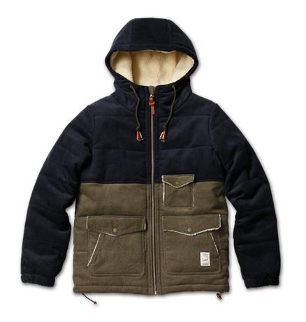 MAGIC NUMBER AW最新ITEM Bi-color Corduroy Jacket Hoodie