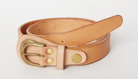 「Men's JOKER1月号」掲載 レザーシリーズ Leather Policeman Belt